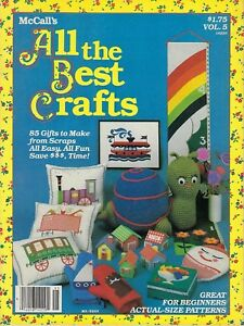 McCall's All The Best Crafts Vol. 5 Easy Beginner's Projects Magazine Vtg 1982