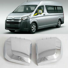 2PCS Chrome Car Rearview Side Mirror Cover Trim For Toyota HIACE 2019 2020