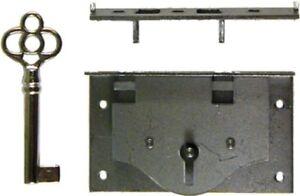Half Mortise Chest Lid Lock Key trunk cabinet desk drawer antique vintage old...