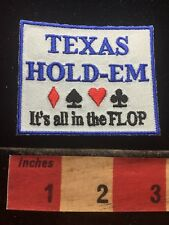 Texas Hold-em Poker Patch ~ All In The Flop ~ Gambling Cards Spades Games 71Y6
