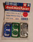 Tamiya 4wd Mini Racer Rubber Rimmed Roller Set and Hardware Vintage 15162