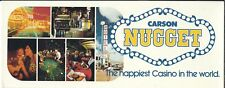 JC-074 Carson City, NV Nugget Casino Long Postcard, 1960's-70's Chrome Vintage