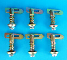6 x Spring Loaded Antiluce Fastener Trailer Tail Gate Drop Catch Brewery    #TR