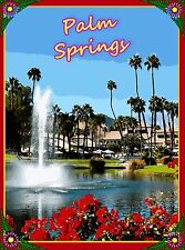 Palm Springs California Desert United States Travel Advertisement Art Poster