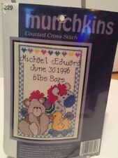 Munchkins Counted Cross Stitch #329   Birth Announcement   KIT   NIP
