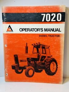 Original 1979 Allis Chalmers Models 7020 Diesel Tractot Operator's Manual