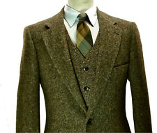 Magee Donegal Tweed UK Jacket 36R Small XS Brown Fleck Blazer Sport Side Vents