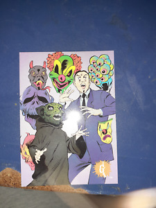 Topps trading cards 1996 floating faces of fear Card # 33