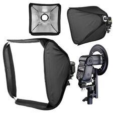 "24"" 60cm Portable Foldable Lighting Flash Speedlite Softbox + Diffuser & Bracket"
