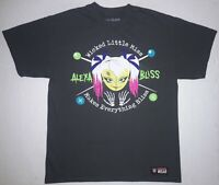 WWE Wrestling ALEXA BLISS Size Large Gray T-Shirt