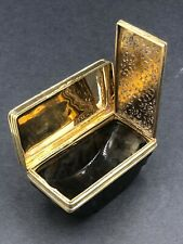 More details for fine quality silver gilt and hard stone large vinaigrette circa 1820