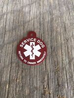 Large Personalized Aluminum Service Dog Pet ID Medical Symbol Tag MADE IN USA
