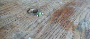 Designer Peridot And Diamond Ring Size 7.25