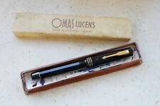 Vintage 1930's OMAS EXTRA LUCENS Black fountain pen - MINT in original box.