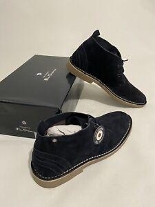 Mens Original BEN SHERMAN Suede Desert Boots Size UK10 EU44 in Navy Blue