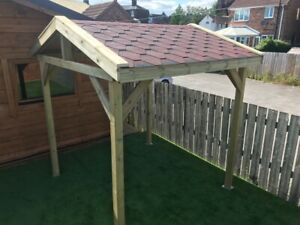 Wooden Timber Treated Garden GAZEBO Patio Pergola Structure Arch with fittings