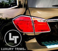 Mercedes GL X166 GL450 Chrome Taillight Trim Bezels by Luxury Trims 2013-2016