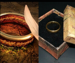 The Lord of the Rings The One Ring 1:1 Scale Pendant Cemented Carbide New In Box