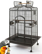 Large Dome Bird Parrot Open Top Macaw Green Cheek Conure African Grey 137