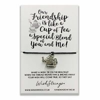 Friendship Special Blend Wish String Bracelet With Lucky Charm Sentimental Gift