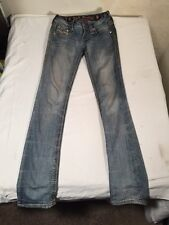 Rock revival Straight Cut Betty Rhinestone Jeans Sz 23 X 30 womens