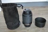 Nikon Nikkor AF-S DX VR 55-200mm f/4-5.6G ED Lens Front Rear Caps Hood Bag USED