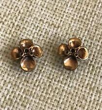 Bote Boutiqe Flower Stud Earrings, Silver 925 /Copper, One Size