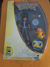 Pokemon 20th Anniversary Ash & Pikachu Figure Set 2016 SDCC COMIC-CON Exclusive!