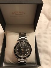 Rotary Henley Men's Stainless Steel Black Dial Watch With Box