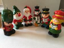 Christmas Candle Santa Snowman Elf Toy Soldier Caroler YOU PICK