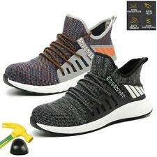 Men's Work Safety Shoes Indestructible Steel Toe Labor Boots Breathable Sneakers