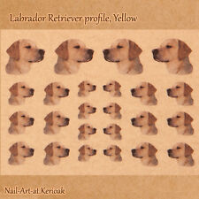 Labrador Retriever, Yellow,  Set of 24 Dog Nail Art Stickers Decals, Labrador