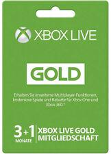 XBOX 360 ONE LIVE 3+1 MONATE / 4 Month GOLD MITGLIEDSCHAFT Card KARTE CODE Key