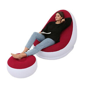 Fashion Lazy Inflatable Sofa Comfortable Outdoor Beach Inflatable Sofa Bed Chair