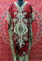 Neue Hippie Frau lange Kaftan Freie Größe Casual Party Kleid Strand vertuschen