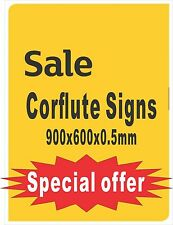 Promotional Signs printed Corflute 600x900x5mm Limited Offer $35 each