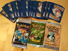 lot of 100 vintage pokemon cards 14 rares, promos, and holo plus empty wrapers