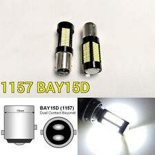 Front Signal Light 1157 2057 3496 7528 BAY15D 108 SMD 6K White LED Bulb K1 AK