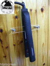 Clear Acrylic Wall Holder Bracket Mount Rack for Bathroom Hair Straightener