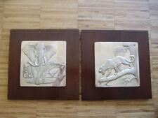 'Lords of the Serengeti' sterling silver  Anthony Jones Elefant und Leopard RAR