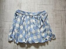 TOPSHOP Flippy Hem DESIGN Mini SKIRT UK 10 New Without Tags Blue & White CHECKED