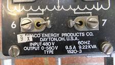 Staco 1520-3 Variac 1 Phase 0-280V 3 Phase 0-560V AS-IS