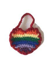 Rainbow Crochet Heart NHS Donation
