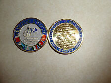 CHALLENGE COIN US NAVY NEX NAVAL EXCHANGE EUROPEAN DISTRICT NAPLES BAHRAIN EMBAS