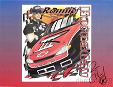 """2001 Ronnie Hornaday III signed """"They Call Him Three"""" Chevy NASCAR postcard"""
