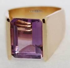 Ladies 14k Gold 4.80 Carat Amethyst Modern Ring 6