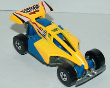 Hot Wheels Shock Factor Racing Yellow Blue Interior BW's China 1998