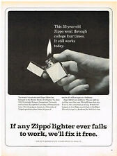 Vintage 1962 Magazine Ad Zippo Lighters Are Stubborn They Go Right On Working