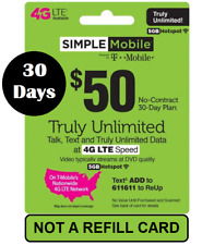 SIMPLE Mobile $50 Unlimited 4G LTE 30-Day service - 3 in 1 SIM INCL + FREE GIFT