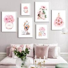 Fashion Canvas Wall Art Painting Perfume Makeup Poster Beauty Room Salon Decor